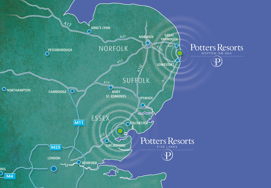 Map - Potters Resort