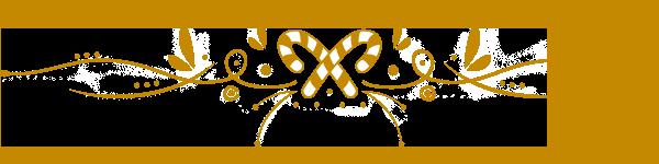 Gold text divider