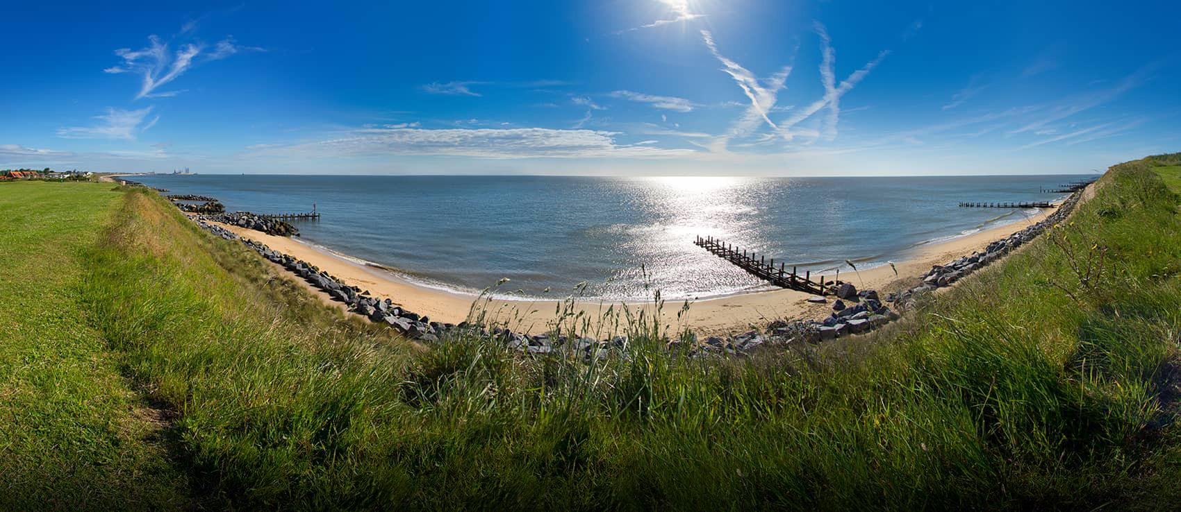 The Norfolk coast