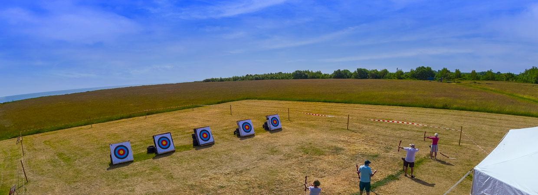People on an archery range
