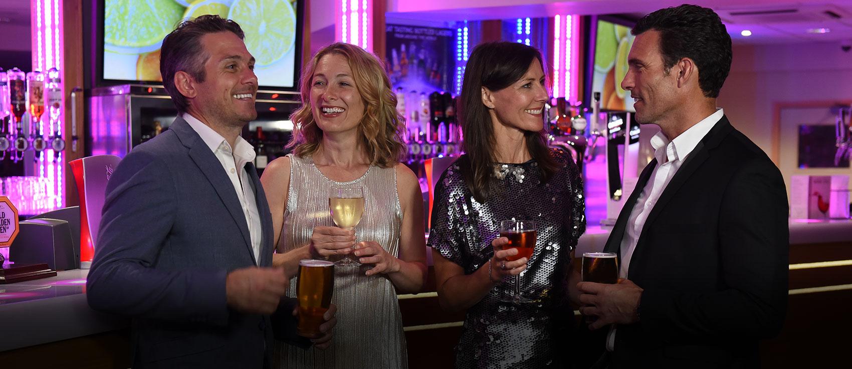 Group drinking at the Atlas Bar