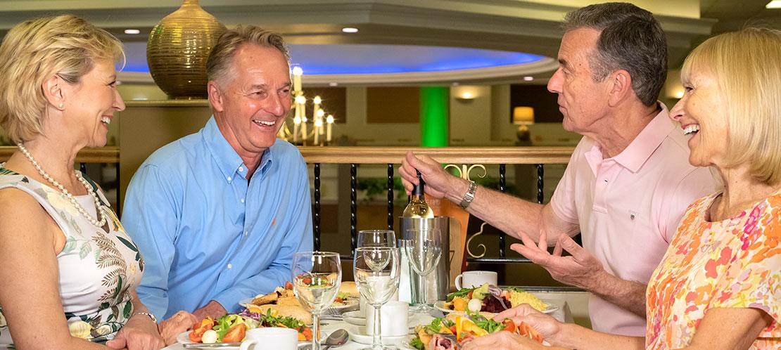 Couples in restaurant