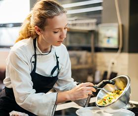 Kitchen team member